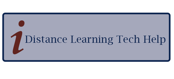Distance Learning Tech Help button